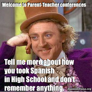 Spanish Teacher conferences meme