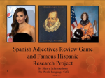 Spanish Adjective Review Game