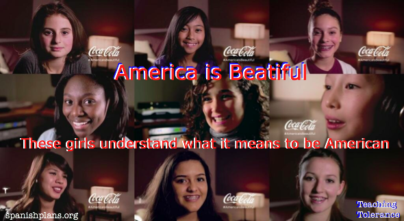Coca Cola tolerance through America the Beautiful