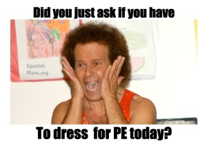dress for PE