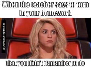 Forgot to do homework