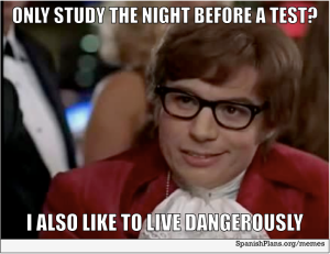 study the night before a test