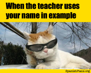 Teacher Uses your Name in Example