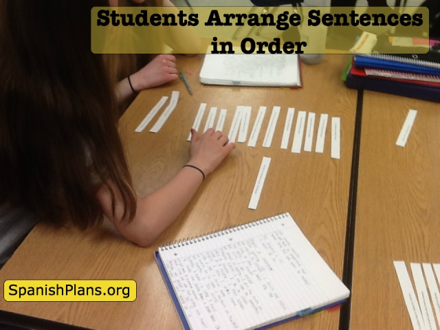 Arrange Sentences in Order