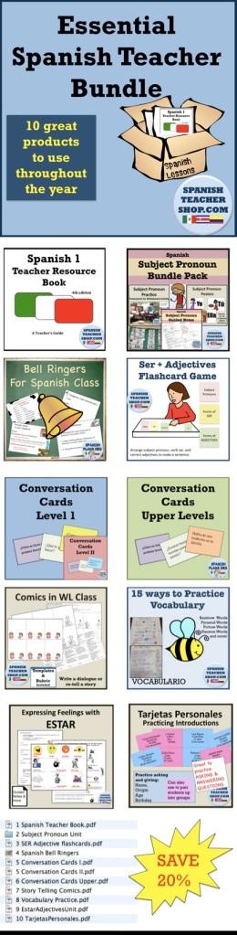 Spanish Teacher Bundle 10 essential lessons