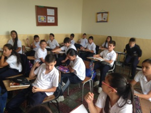 Classroom in Colombian School