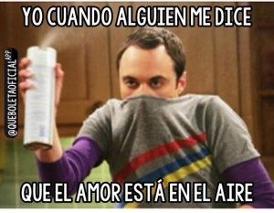 Sheldon amor en el aire