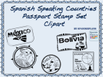 Spanish Speaking Country Passport Stamps Clipart