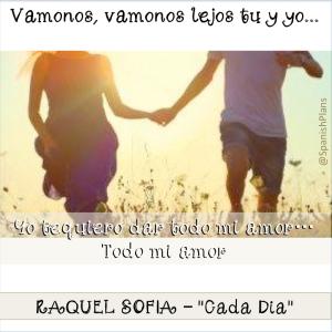 Cada Dia por Raquel Sofia lyrics
