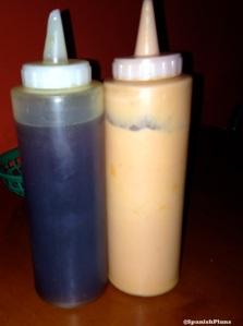 salsa rosada y miel