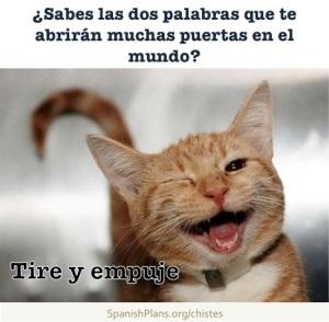 Opening Doors in Life Joke in Spanish