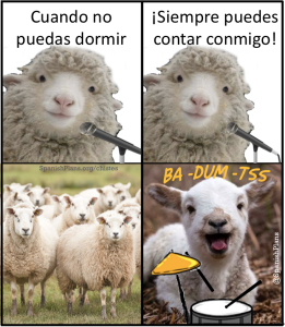 Contar ovejas chiste