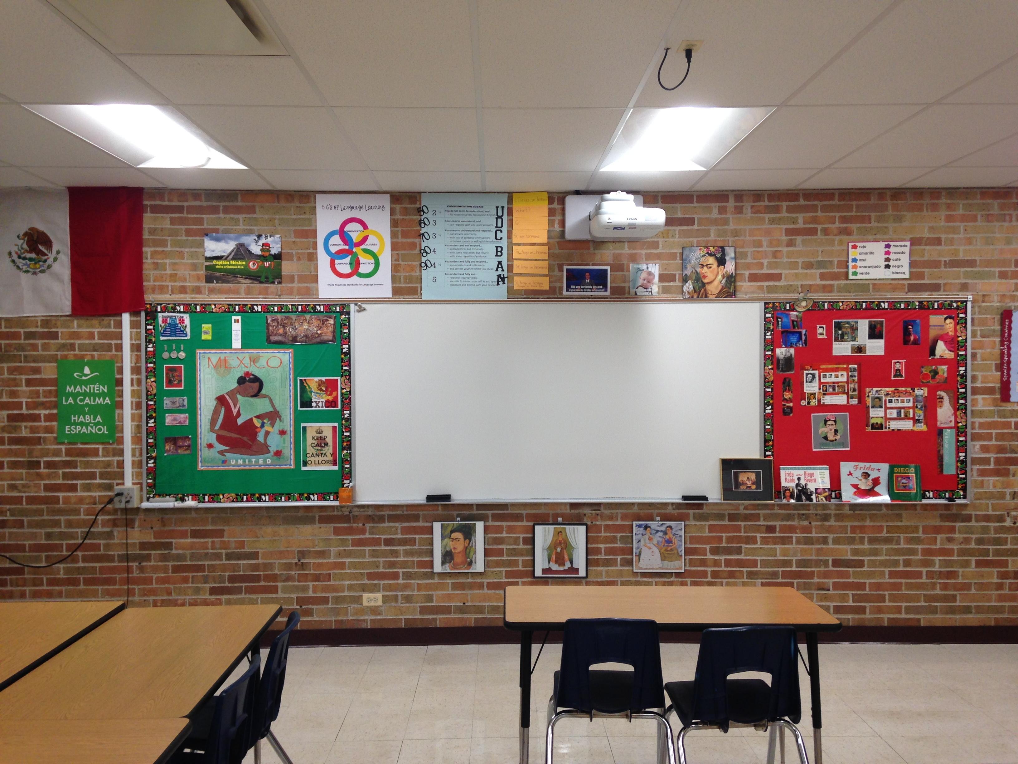 Spanish Classroom Decoration Pictures ~ Spanish classroom tour spanishplans