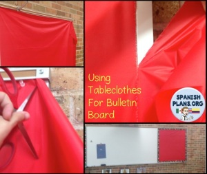 Tableclothes for Bulletin Board