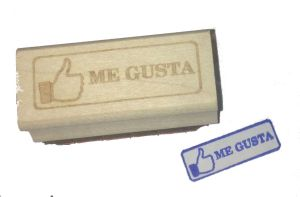 Me gusta rubber stamp