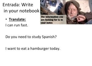 Spanish class starters