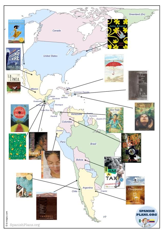 Hispanic Books on Map
