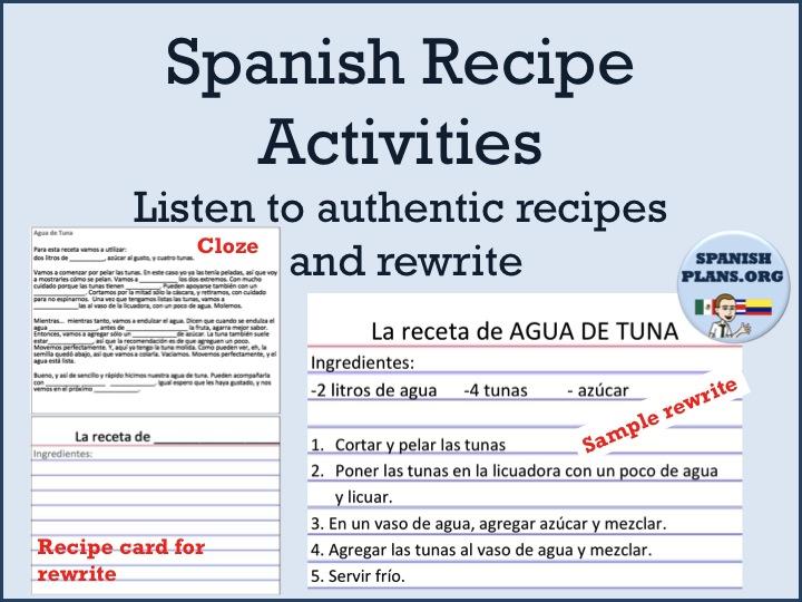 authentic resources for recetas