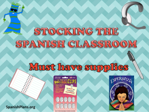 Spanish class supply order
