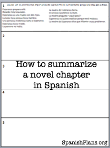 How to summarize a chapter in Spanish