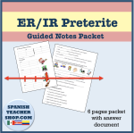 ER IR Preterite Guided Notes Packet