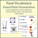 Food Vocabulary Powerpoint Spanish