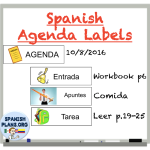 Free Spanish Agenda Labels