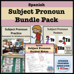 Subject Pronoun Bundle Pack
