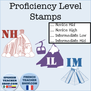 Stamps for Novice High, Intermediate Low, and Intermediate Mid