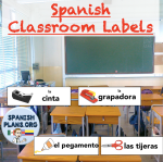 Free Spanish Classroom Labels