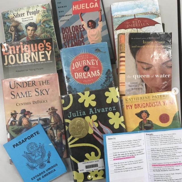 Traveling through literature Spanish passport