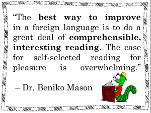 Beniko Mason reading quote