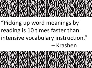 Picking up word meanings by reading is 10 times faster than intensive vocabulary instruction
