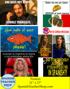 Posters from SpanishTeacherShop.com
