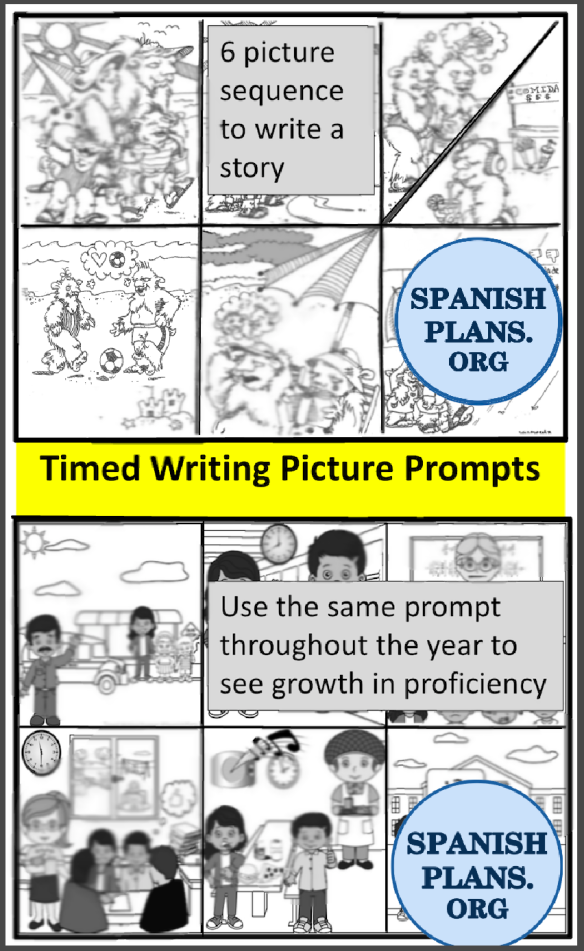 Timed Writing Prompts | SpanishPlans org