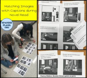 Students Match Captions to Images of Scenes from Chapter
