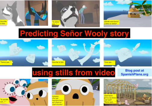 Predicting Senor Wooly story with stills from Video