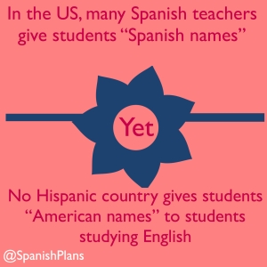 No Hispanic country studying English gives American names