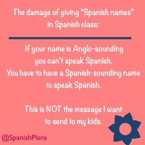 If your name is Anglo sounding you can't speak Spanish