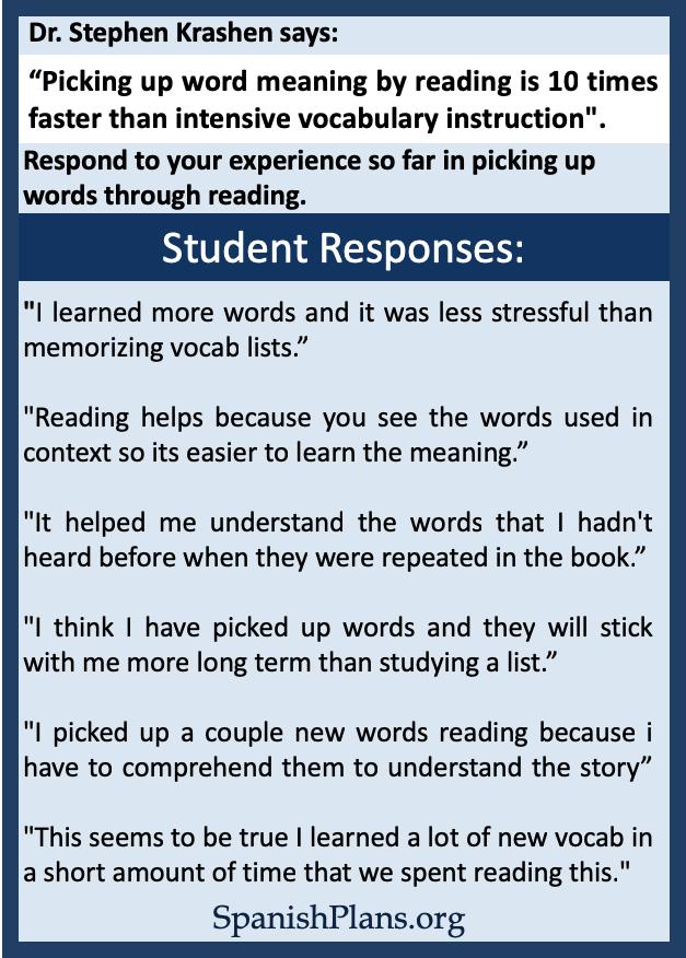 Students on vocab acquisition