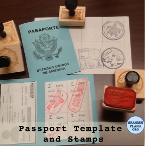 Passport Template and Stamps