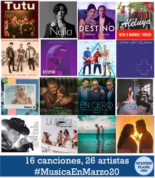 16 canciones 26 artistas