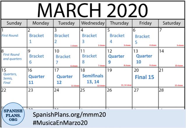 MMM20 Calendar