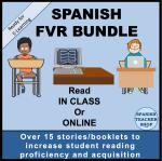 Spanish FVR Digital Library Bundle available on TeachersPayTeachers