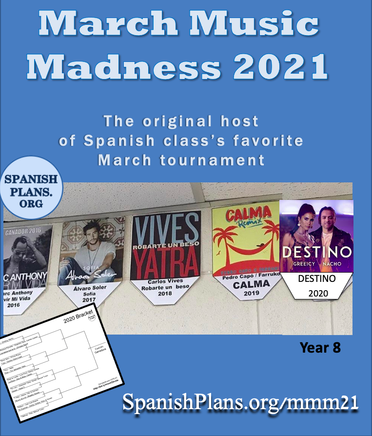 March Music Madness 2021 from SpanishPlans.org