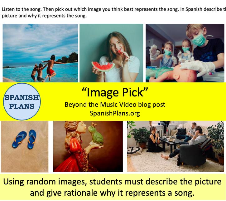 Image Pick Music Video Activity