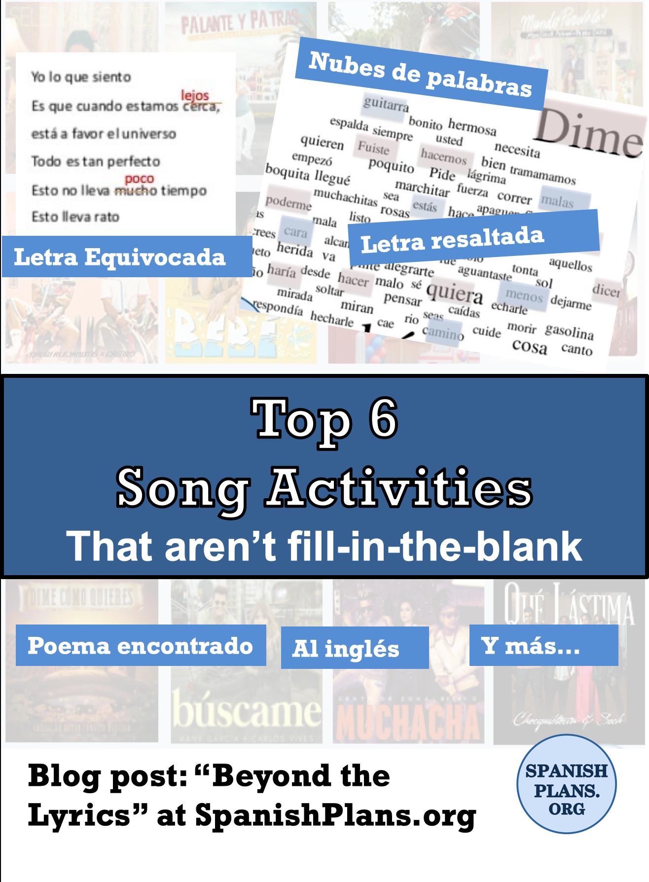 Top 6 song activities